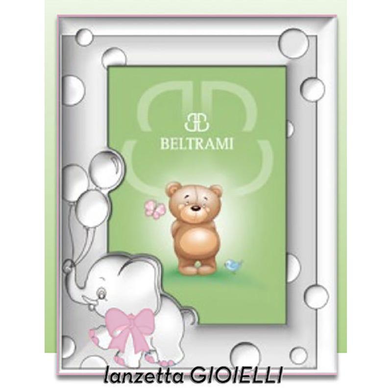 Cornice portafoto 13x18 in legno rosa con elefantino in - Portafoto 13x18 ...