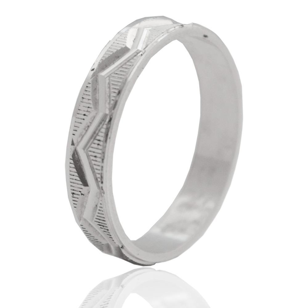 nuovo stile 000c5 5af3a Anello fedina onda diamantata mm 4 in argento titolo 925 - personalizzabile  -