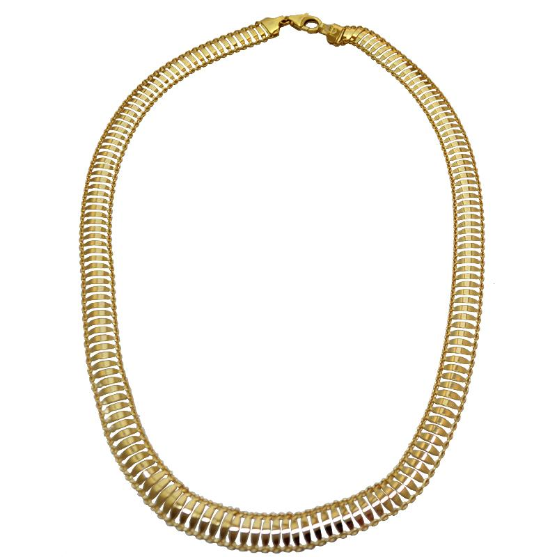 l'atteggiamento migliore 17e0e 945e7 Collier girocollo da donna serpente cm 45 in argento 925 placcato oro  giallo mm 9