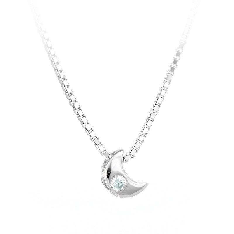Luce 750 Ct0 Luna Bianco Collana Oro Naturale 02 Diamante Titolo Con Punto In 0Owm8vNny