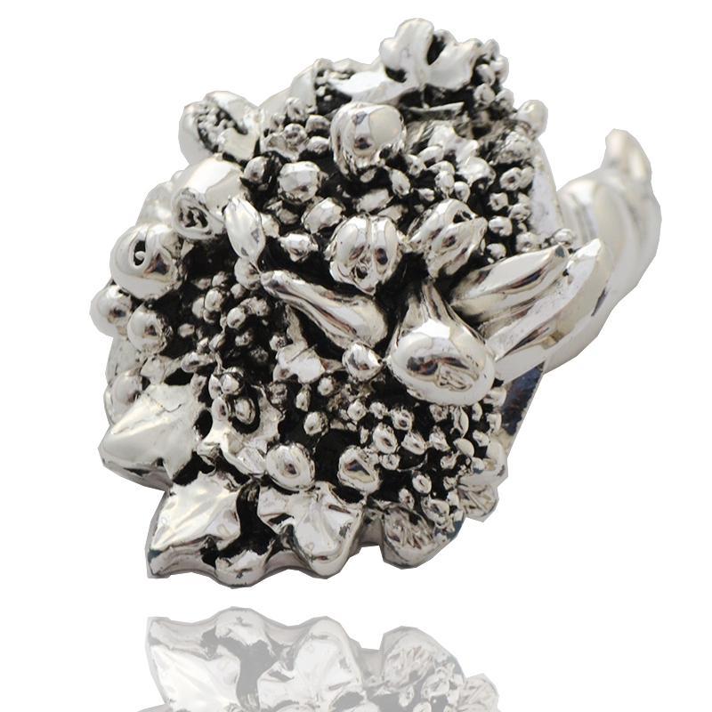 Cornucopia frutta cm 9 con bagno galvanico in argento 925