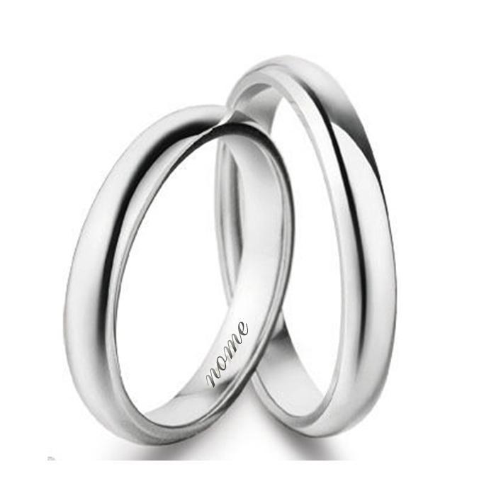 miglior sito web 4e60c f6079 Anello fede nuziale classica in argento titolo 925 spessore di 3 mm e peso  grammi 3 - personalizzazione gratis