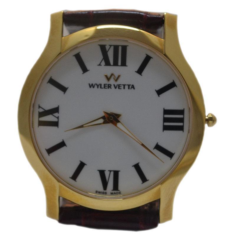 Wyler Ultrapiatto Vetta Numeri Orologio Romani Oro Color Y9WDHE2I