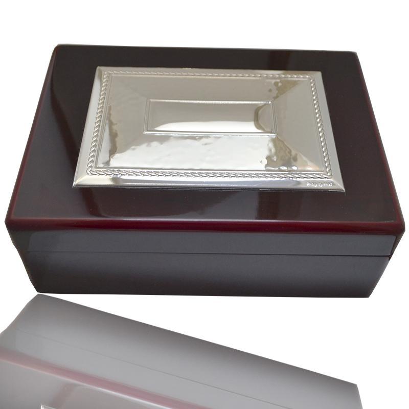 Scatola portagioie 18x13 legno testa di moro laccato - Portagioie argento ...