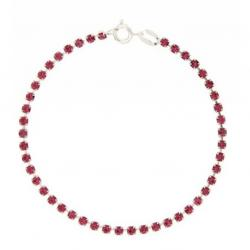 Bracciale tennis mm 2,5 in argento 925 con strass rosa