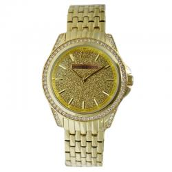 Orologio roccobarocco rb0244st lady strass quartz gold plated